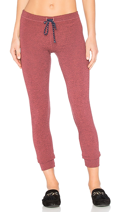 SUNDRY Skinny Sweatpants in Red