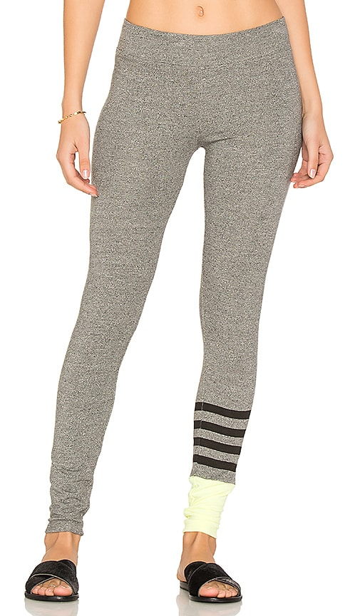 SUNDRY Colorblock Yoga Pants in Gray