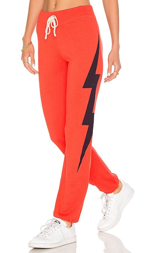SUNDRY Lightning Bolt Sweatpants in Orange