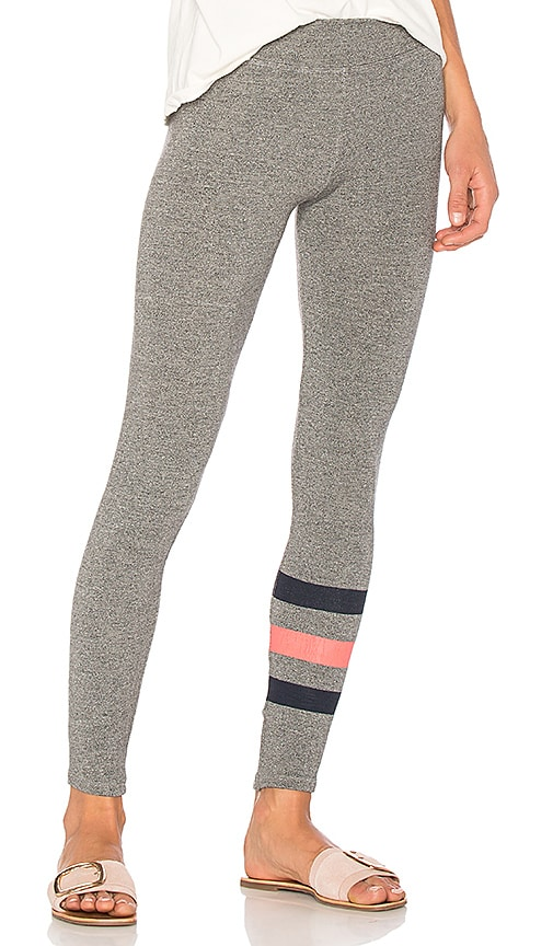 SUNDRY Stripes Yoga Pant in Gray