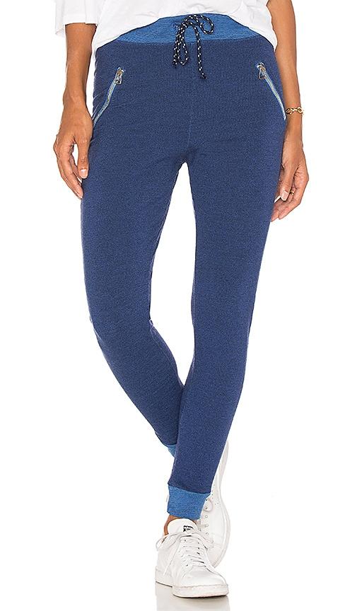 SUNDRY Zip Sweatpants in Blue