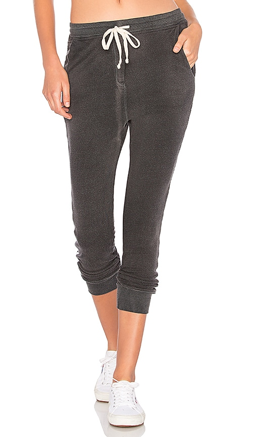 SUNDRY Side Tape Slash Pant in Charcoal