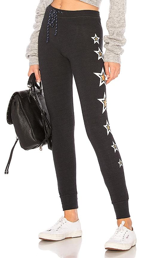 SUNDRY Stars Skinny Pant in Black