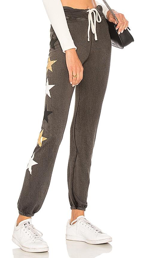 SUNDRY Side Stars Sweatpants in Charcoal