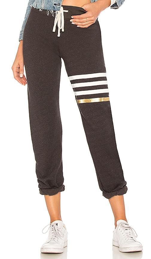 SUNDRY Stripes Sweatpants in Black