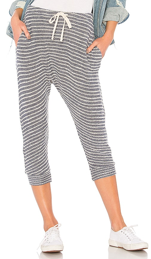 SUNDRY Striped Drop Crotch Pant in Blue