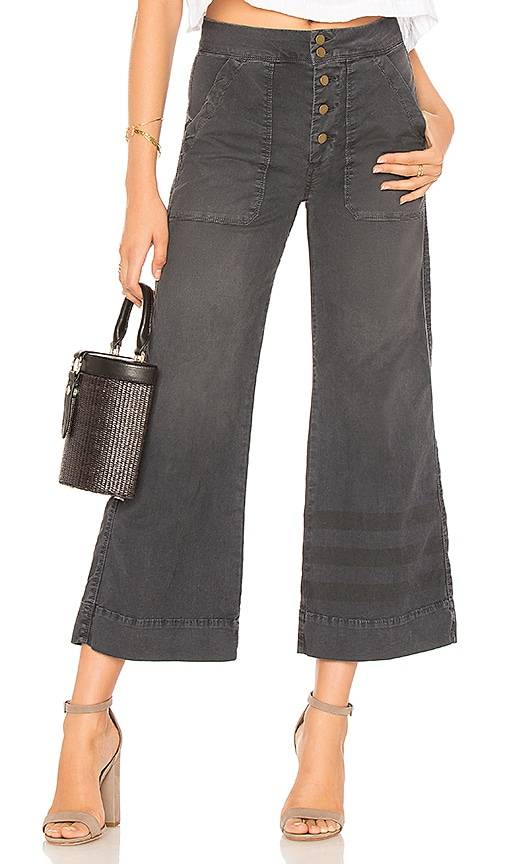 SUNDRY LA Plage Pant in Charcoal