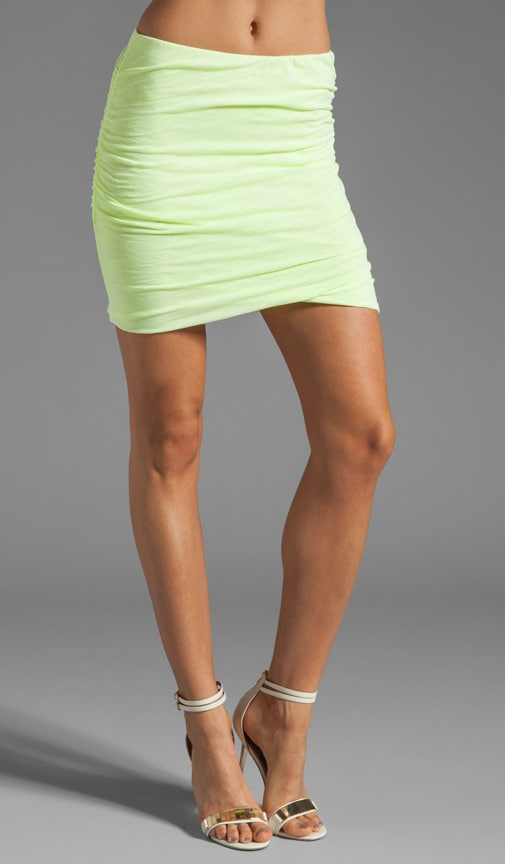 Slub Ruched Skirt
