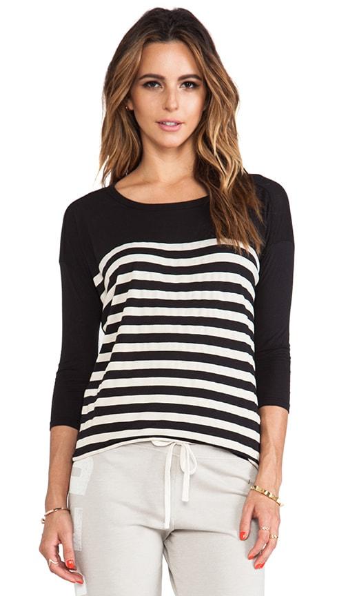 Stripes 3/4 Sleeve Tunic