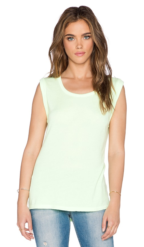 SUNDRY Tank Top in Neon Citron