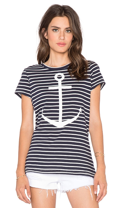 Striped Anchors Away Tee