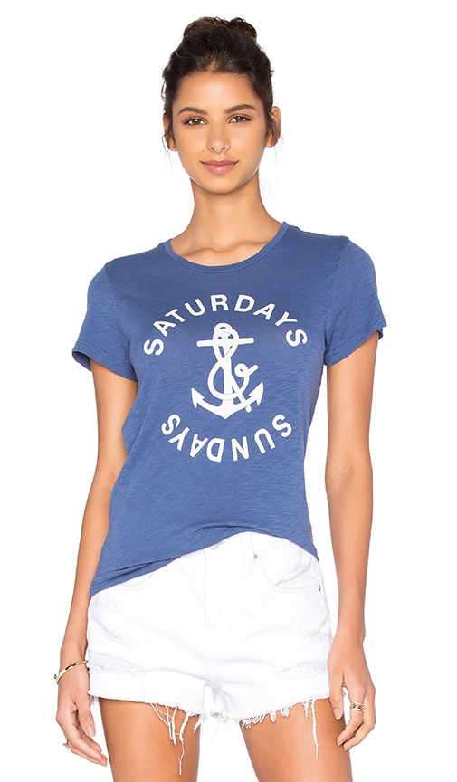 SUNDRY Anchor Tee in Blue