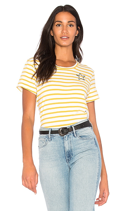 SUNDRY Mini Star Tee in Mustard
