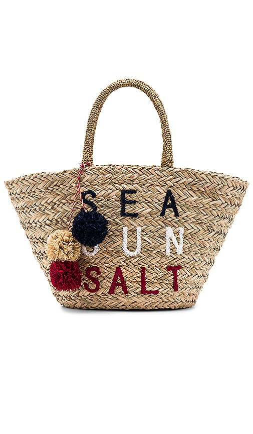 SUNDRY Sea Sun Salt Straw Tote in Beige