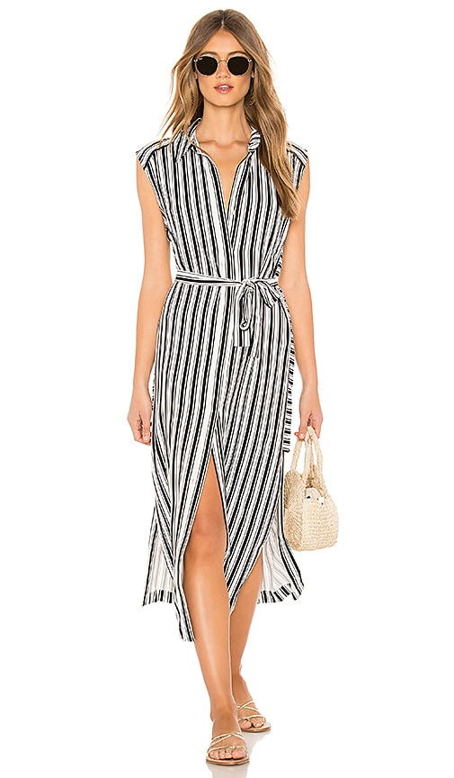 TUNIQUE DE PLAGE STRIPE LONG LINE