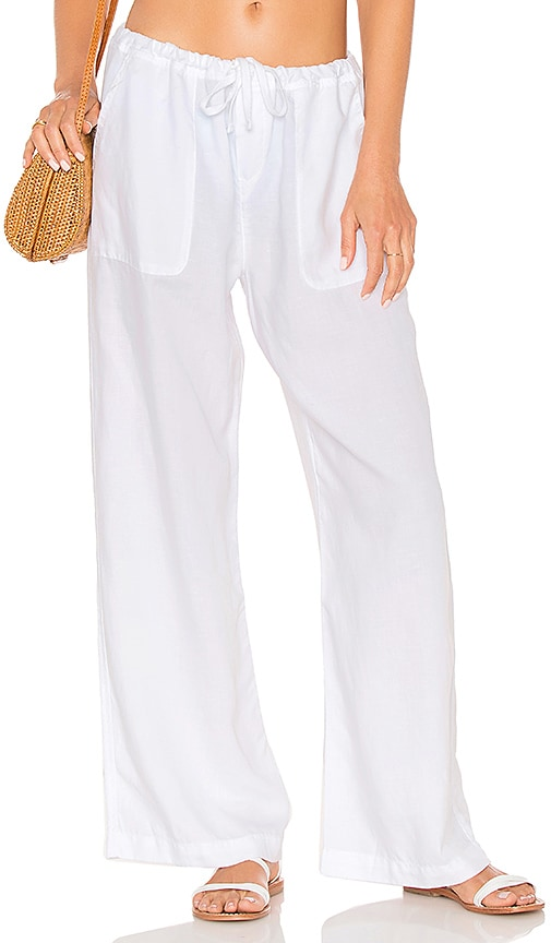 bfff6cf815 Seafolly Wide Leg Beach Pant in White | REVOLVE