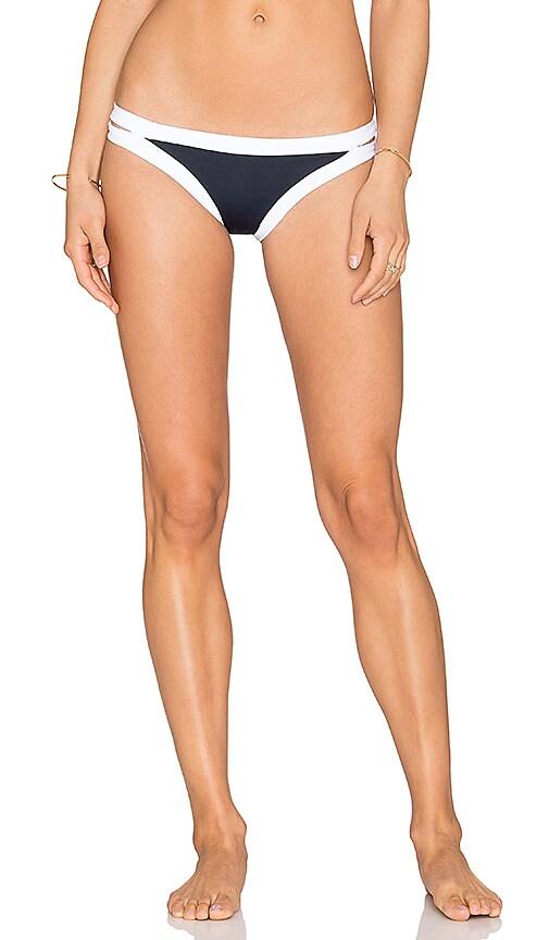 Seafolly Block Party Brazilian Bikini Bottom in Navy