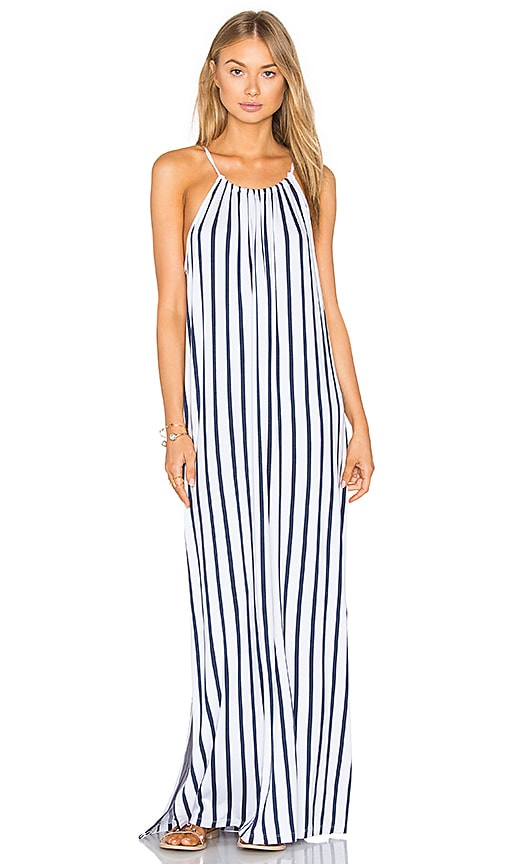 Seafolly Stripe Maxi Dress in Blue