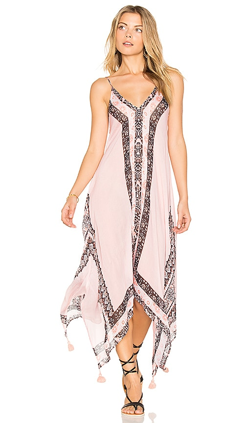 Seafolly Border Print Dress in Pink
