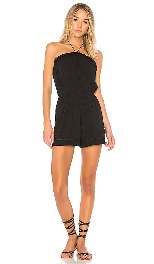 Seafolly Strapless Romper in Black