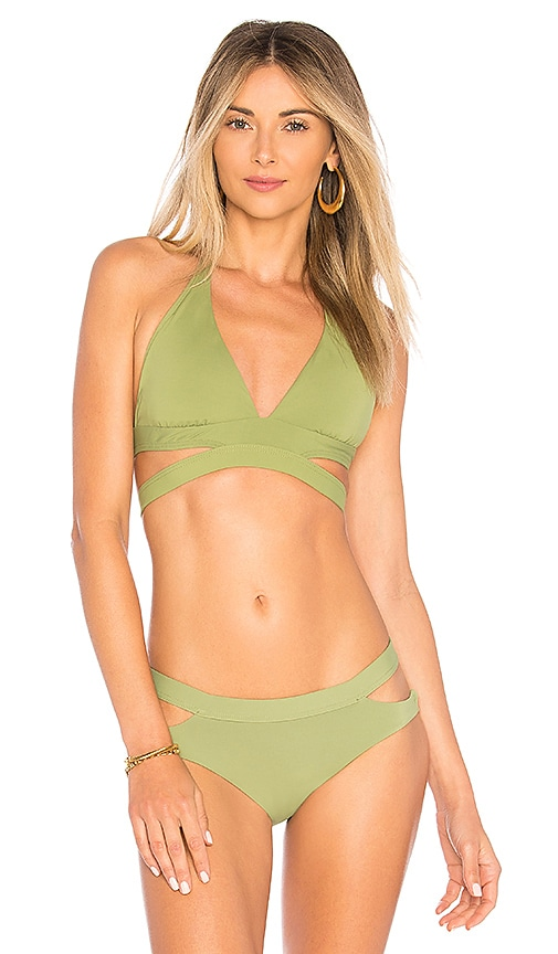 Seafolly Active Halter Top in Green