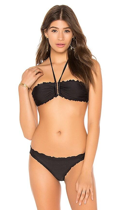 Seafolly Shimmer Tube Bikini Top in Black