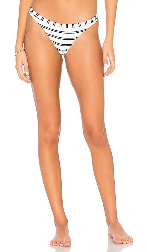 Seafolly Inka Stripe Brazilian Bikini Bottom in White