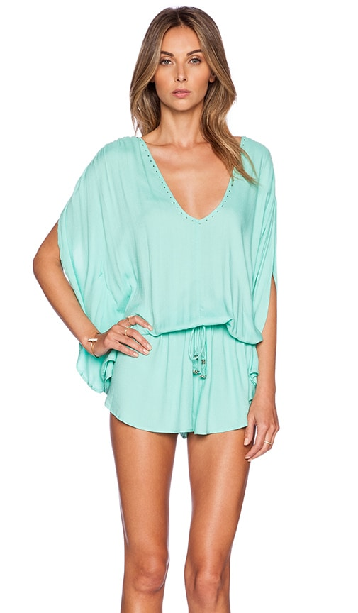 Seafolly Getaway Romper in Green