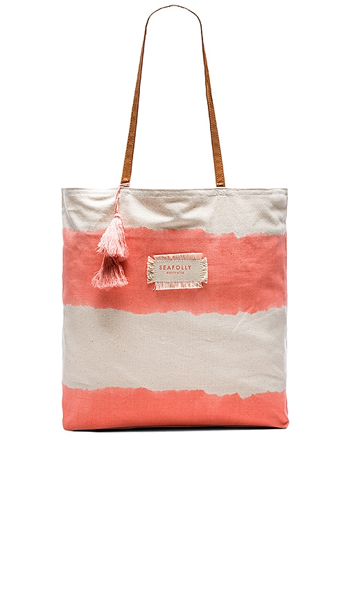 Seafolly Indian Summer Tote in Nectarine