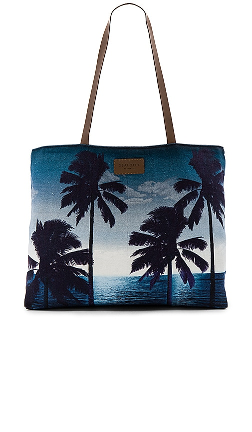 Seafolly Carried Away Tropics Tote in Navy