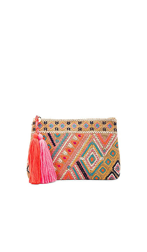 Carried Away Embroidered Clutch