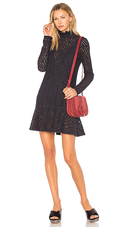 See By Chloe Lace Mini Dress in Navy