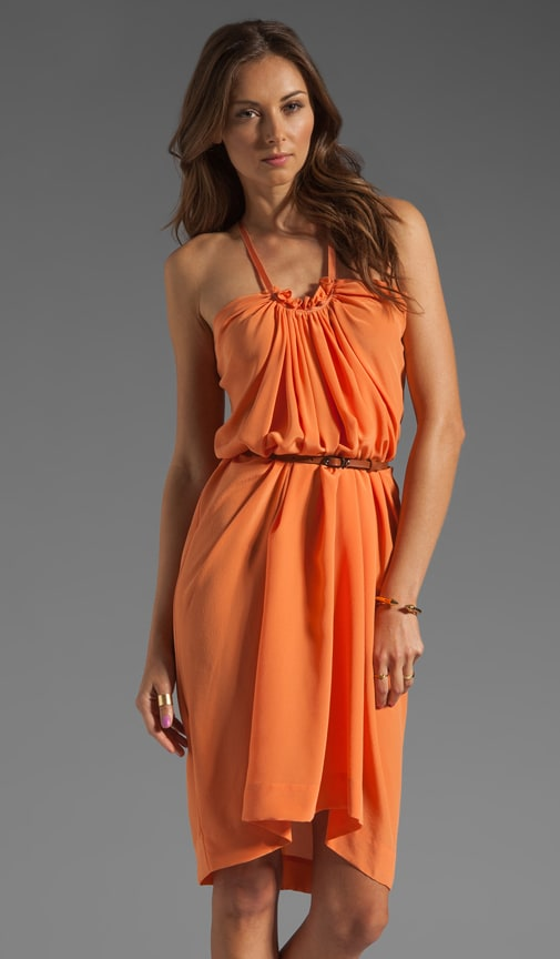 Belted Halter Dress