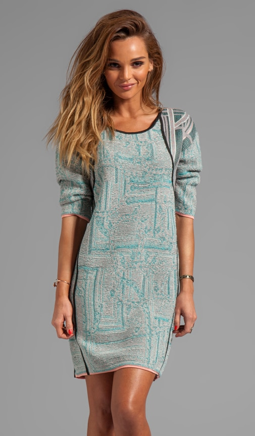 3/4 Sleeve Sweater Dress