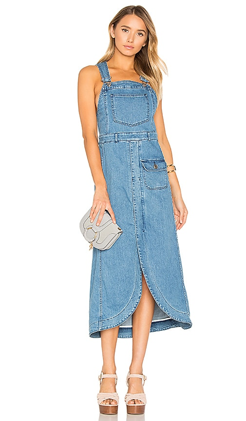 See By Chloe Denim Dress in Washed Indigo