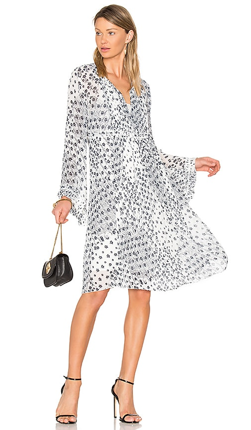 See By Chloe Long Sleeve Floral Mini Dress in Black