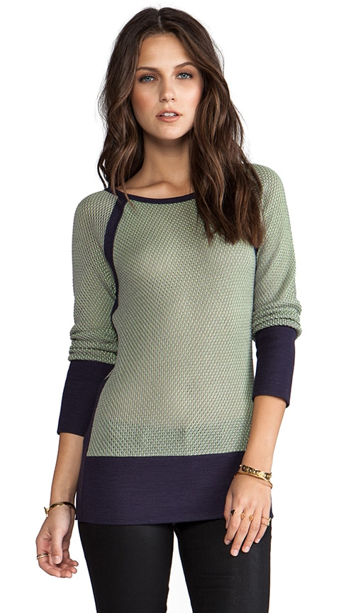 Long-Sleeve Bottom Panel Sweater