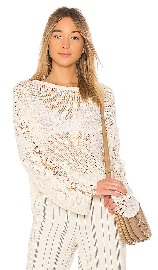 See By Chloe Long Sleeve Sweater in Cream