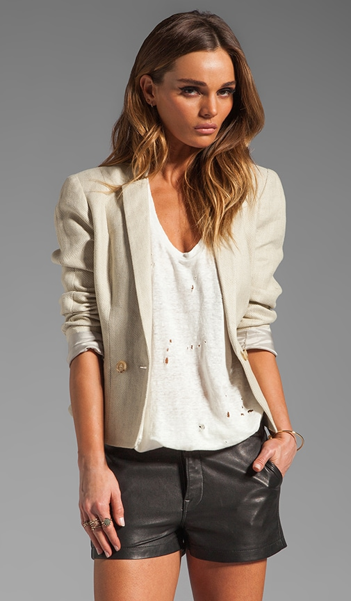 Paper Collar Single Button Blazer