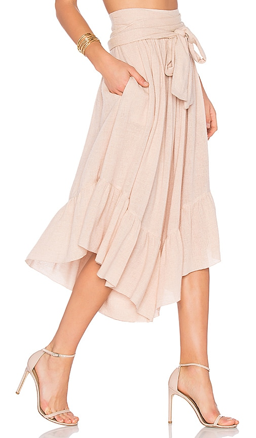 See By Chloe Wide Leg Cropped Pants in Blush