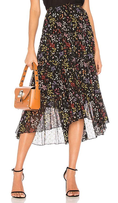 See By Chloe Ruffle Midi Skirt in Black