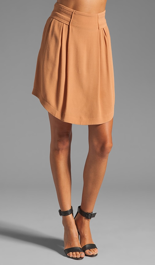 Front Pleat High Waisted Skirt