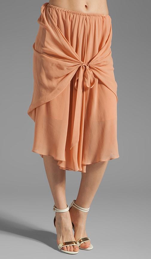Uneven Hem Wrap Around Skirt