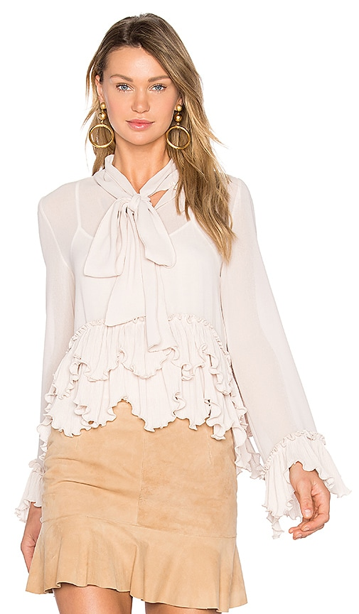 See By Chloe Tie Neck Ruffle Top in Blush
