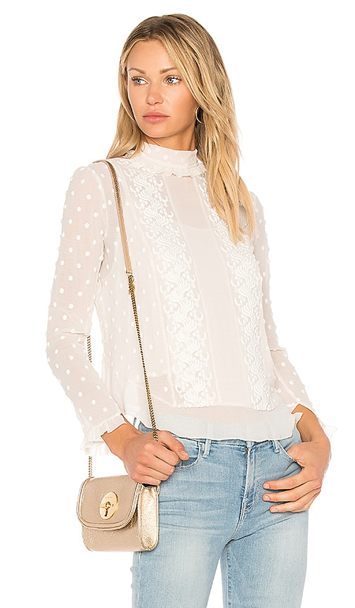 See By Chloe Polka Dot Embellished Top in Ivory