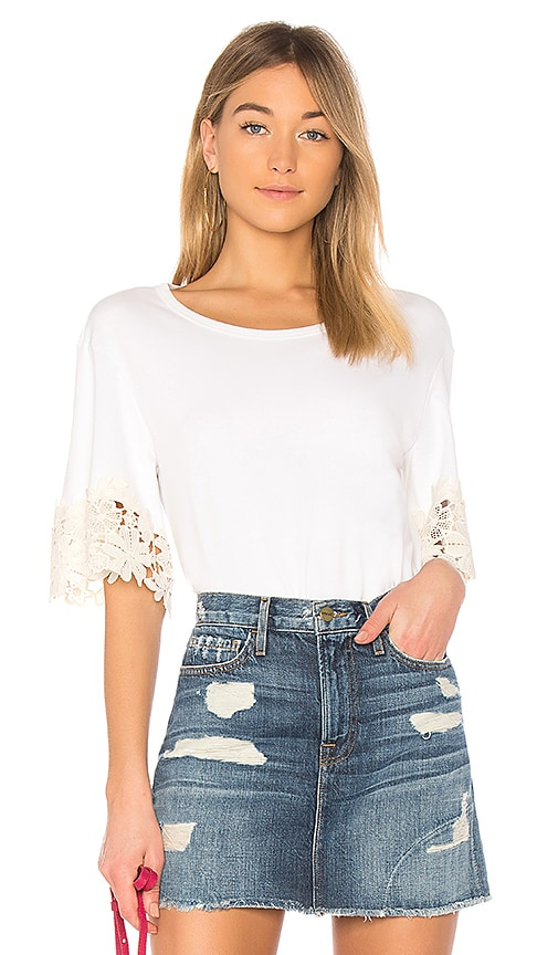 See By Chloe Short Sleeve Top in White