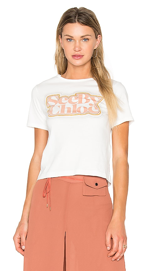 See By Chloe Graphic Tee in White