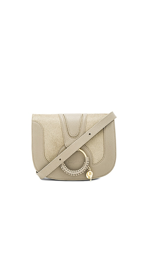 See By Chloe Shoulder Bag With Ring Detail in Gray