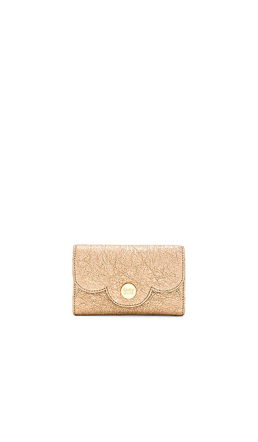 See By Chloe Polina Small Wallet in Metallic Gold