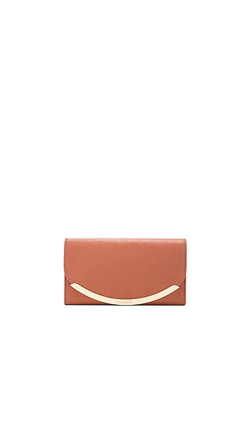 See By Chloe Small Foldover Wallet in Rose